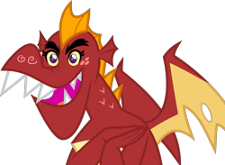 Size: 5477x4000 | Tagged: safe, artist:melisareb, garble, dragon, gauntlet of fire, .svg available, absurd resolution, bust, cute, freckles, gardorable, inkscape, male, simple background, solo, transparent background, vector