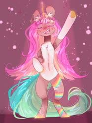 Size: 1280x1707 | Tagged: safe, artist:akiiichaos, oc, oc:diva, pony, unicorn, bipedal, female, mare, solo