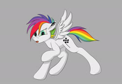 Size: 2000x1373 | Tagged: safe, artist:sloppyhooves, pegasus, pony, multicolored hair, piercing, punk, rainbow hair, solo