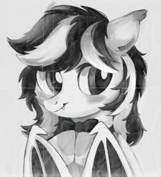 Size: 1000x1100 | Tagged: safe, artist:raily, oc, oc only, bat pony, pony, bat pony oc, bat wings, bowtie, wings