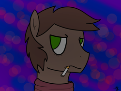Size: 1600x1200   Tagged: safe, artist:moonahd, oc, oc only, oc:brewer, oc:noble brew, earth pony, cigarette, clothes, male, scarf