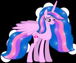 Size: 1313x1080 | Tagged: safe, artist:徐詩珮, oc, oc only, oc:hsu amity, alicorn, alicorn oc, base used, cutie mark, horn, older, simple background, vector, wings