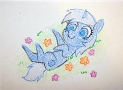 Size: 3996x2946 | Tagged: safe, artist:dawnfire, oc, oc only, oc:paamayim nekudotayim, pony, unicorn, flower, solo, traditional art