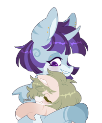 Size: 1606x1928 | Tagged: safe, artist:rymdsten, oc, oc:coral waves, oc:killi thaum, earth pony, original species, shark, shark pony, unicorn, hug, shark pony oc