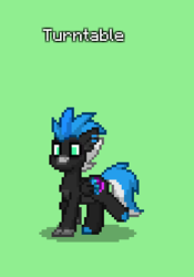 Size: 233x333 | Tagged: safe, artist:kez, oc, oc only, oc:turntable, classical hippogriff, hippogriff, pony, pony town, commission, green background, male, simple background, text