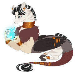 Size: 2700x2500 | Tagged: safe, artist:gigason, oc, draconequus, hybrid, high res, interspecies offspring, male, offspring, parent:discord, parent:zecora, parents:zecord, simple background, solo, transparent background