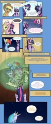 Size: 1024x2495 | Tagged: safe, artist:juanrock, applejack, fluttershy, pinkie pie, princess celestia, rainbow dash, rarity, twilight sparkle, alicorn, earth pony, pegasus, pony, unicorn, comic:eternal twilight, comic, female, magic bubble, mane six, mare, twilight sparkle (alicorn)