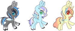 Size: 959x403 | Tagged: safe, artist:14th-crown, oc, oc only, pegasus, pony, unicorn, base used, colored hooves, horn, pegasus oc, simple background, transparent background, unicorn oc, wings