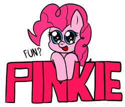 Size: 1000x855 | Tagged: safe, artist:chibi95, pinkie pie, earth pony, pony, bust, cute, diapinkes, female, mare, open mouth, portrait, simple background, solo, transparent background