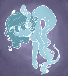 Size: 1024x1143 | Tagged: safe, artist:urbanqhoul, oc, oc only, unnamed oc, earth pony, ghost, ghost pony, pony, undead, abstract background, commission, curious, cute, female, floating, mare, open mouth, simple background, solo