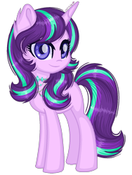 Size: 1040x1384 | Tagged: safe, artist:fantarianna, starlight glimmer, pony, unicorn, alternate hairstyle, female, mare, simple background, solo, transparent background