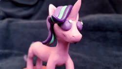 Size: 4032x2268 | Tagged: safe, artist:crosslineanimator, starlight glimmer, clay, craft, long glimmer, long starlight, plasticine, sculpture
