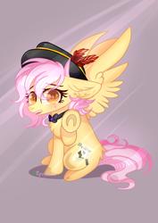 Size: 1654x2339 | Tagged: safe, artist:2pandita, oc, oc:mistsuki, pegasus, pony, bowtie, female, hat, mare, solo