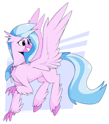 Size: 3595x4093 | Tagged: safe, artist:renderpoint, silverstream, classical hippogriff, hippogriff, cute, diastreamies, female, older, older silverstream, solo