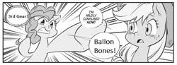 Size: 646x238 | Tagged: safe, seven seas, applejack, pinkie pie, my little pony: the manga, manga, one piece, pinkie being pinkie