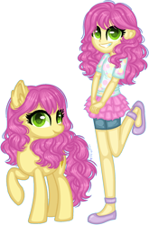 Size: 1124x1698 | Tagged: safe, artist:fantarianna, li'l cheese, earth pony, pony, equestria girls, the last problem, clothes, equestria girls-ified, female, leg lifted, li'l cheese (rule 63), looking at you, mare, older, older li'l cheese, rule 63, self paradox, simple background, transparent background