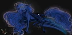 Size: 1000x486 | Tagged: safe, artist:martazap3, princess luna, alicorn, pony, female, picture for breezies, solo