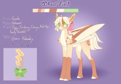 Size: 3500x2454 | Tagged: safe, artist:clay-bae, oc, oc:wheat field, hybrid, mule, pegasus, pony, female, glasses, mare, solo