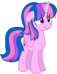 Size: 6312x8231 | Tagged: safe, artist:ejlightning007arts, oc, oc only, oc:hsu amity, alicorn, alicorn oc, cute, female, floppy ears, horn, mare, not twilight sparkle, simple background, smiling, solo, transparent background, vector, wings