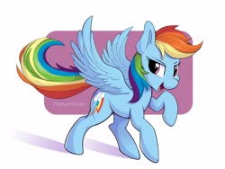 Size: 4000x3000   Tagged: safe, alternate version, artist:thesamstudio, rainbow dash, pegasus, pony, abstract background, cute, dashabetes, female, high res, mare, open mouth, solo, spread wings, wings