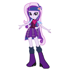 Size: 1152x1152 | Tagged: safe, artist:motownwarrior01, fleur-de-lis, twilight sparkle, alicorn, human, equestria girls, fusion, gem fusion, multiple arms, solo, twilight sparkle (alicorn)