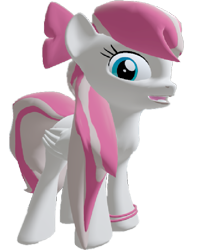 Size: 583x720 | Tagged: safe, artist:topsangtheman, angel wings, pegasus, pony, 3d, bowtie, looking at you, open mouth, shy, simple background, solo, source filmmaker, transparent background