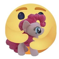 Size: 675x681 | Tagged: safe, artist:ponylover88, pinkie pie, 4de, care emoji, facebook, plushie