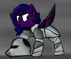 Size: 852x705 | Tagged: safe, artist:ahorseofcourse, oc, oc only, pegasus, pony, armor, armored pony, solo