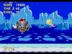 Size: 480x360 | Tagged: safe, fluttershy, ball, boss, doctor eggman, fight, flutterball, game, ice cap zone, rolling, sega, sega genesis, sega mega drive, snow, sonic the hedgehog (series), sonic the hedgehog 3, spin dash