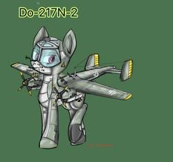 Size: 944x883 | Tagged: safe, artist:смуглнка, original species, plane pony, pony, do-217-n-2, germany, plane