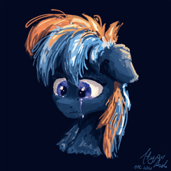Size: 1024x1024 | Tagged: safe, artist:hyper dash, oc, oc only, oc:hyper dash, crying, sad, solo