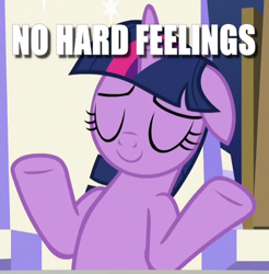 Size: 470x478 | Tagged: safe, edit, edited screencap, screencap, twilight sparkle, alicorn, sparkle's seven, caption, cropped, eyes closed, floppy ears, image macro, shrug, solo, text, twilight sparkle (alicorn)