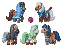 Size: 640x491 | Tagged: safe, earth pony, pony, clothes, crossover collection, dungeons and dragons, g1, mandolin, musical instrument, pen and paper rpg, photo, ponified, rpg, shield, toy