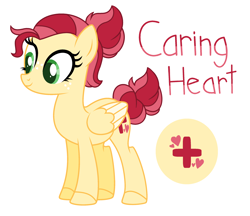Size: 2640x2280   Tagged: safe, artist:amazingly-gay-evan, artist:lazuli, oc, oc only, oc:caring heart, pegasus, pony, base used, cutie mark, female, freckles, mare, offspring, parent:big macintosh, parent:fluttershy, parents:fluttermac, simple background, solo, white background