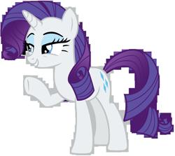Size: 8500x7570   Tagged: safe, artist:andoanimalia, rarity, pony, unicorn, she's all yak, beautiful, eyeshadow, female, grin, hair flip, lidded eyes, makeup, mare, raised hoof, simple background, smiling, solo, transparent background, vector