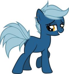 Size: 1189x1274 | Tagged: safe, artist:lightningbolt, oc, oc only, oc:brisk, earth pony, pony, .svg available, blank flank, butt, commission, ear piercing, earring, female, grin, jewelry, looking at you, mare, piercing, plot, raised hoof, simple background, smiling, solo, svg, transparent background, vector