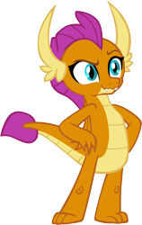 Size: 3795x6001 | Tagged: safe, artist:memnoch, smolder, dragon, uprooted, claws, confident, cute, cute little fangs, dragoness, fangs, female, folded wings, hands on hip, horns, raised eyebrow, simple background, slit eyes, smiling, smirk, smolderbetes, smugder, solo, teenaged dragon, teenager, toes, transparent background, vector