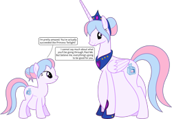 Size: 5797x4000 | Tagged: safe, artist:parclytaxel, oc, oc only, oc:bundle joy, alicorn, earth pony, pony, .svg available, absurd resolution, alicornified, clothes, crown, female, hair bun, hairband, hyper, hyper belly, hyper pregnancy, impossibly large belly, jewelry, looking down, looking up, mare, older, peytral, pregnant, race swap, regalia, self ponidox, shoes, simple background, smiling, solo, speech bubble, time paradox, transparent background, vector