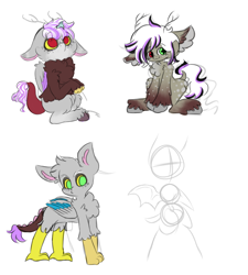 Size: 816x906 | Tagged: safe, artist:rosychild, oc, concept, design, female, filly, horn, tail