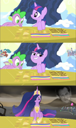 Size: 1440x2416 | Tagged: safe, edit, edited screencap, screencap, ocellus, smolder, spike, twilight sparkle, yona, alicorn, changedling, changeling, dragon, human, pony, unicorn, yak, the last problem, winter wrap up, /mlp/, 4chan, gravestone, humor, immortality blues, irl, irl human, josh haber, older, older twilight, op is a duck, op is trying to start shit, photo, princess twilight 2.0, school of friendship, seasonwunner, snow, tree, trolling, twilight sparkle (alicorn), twilight will outlive her friends, winged spike