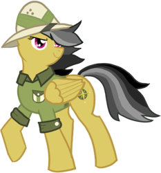 Size: 400x430   Tagged: safe, artist:notorious dogfight, daring do, pegasus, pony, fanfic:the needle, fanfic art, simple background, solo, transparent background