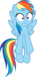 Size: 3000x6144 | Tagged: safe, artist:sollace, rainbow dash, pegasus, pony, rarity takes manehattan, .svg available, :c, absurd resolution, faic, flying, frown, simple background, solo, spread wings, transparent background, vector, wide eyes, wings