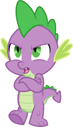 Size: 3000x5179 | Tagged: safe, artist:cloudyglow, spike, the times they are a changeling, simple background, solo, transparent background, vector