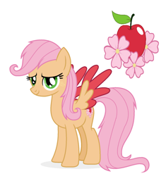 Size: 1456x1552   Tagged: safe, artist:lucymarie2000, oc, oc:blossom, pegasus, pony, base used, colored wings, colored wingtips, female, green eyes, mare, offspring, parent:big macintosh, parent:fluttershy, parents:fluttermac, pink mane, simple background, white background