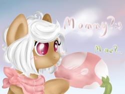 Size: 1600x1200   Tagged: safe, artist:solnashko, oc, oc only, oc:bloom, oc:blossom, monster pony, original species, piranha plant pony, plant pony, :p, augmented tail, dialogue, female, holding, neckerchief, plant, tongue out