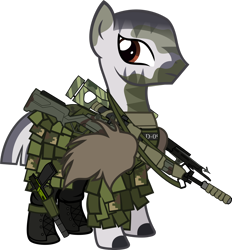 Size: 1920x2073 | Tagged: safe, artist:n0kkun, oc, oc only, oc:fire arrows, zebra, armor, arrow, boots, camouflage, clothes, commission, crossbow, face paint, female, ghillie suit, gun, handgun, holster, m14, pants, pistol, rifle, shoes, simple background, solo, transparent background, weapon, zebra oc