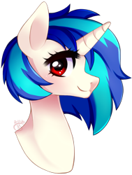 Size: 1221x1613 | Tagged: safe, artist:starshame, dj pon-3, vinyl scratch, pony, bust, female, looking at you, mare, portrait, profile, simple background, solo, transparent background