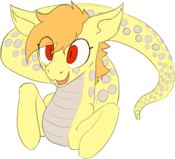 Size: 1079x979 | Tagged: safe, artist:anonymous, lamia, original species, snake, snake pony, /mlp/, 4chan, cute, drawthread, garter snake, looking at you, simple background, solo, transparent background
