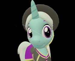 Size: 897x720   Tagged: safe, artist:topsangtheman, cornetta, pony, unicorn, 3d, close-up, clothes, hat, simple background, solo, source filmmaker, transparent background, uniform