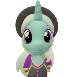 Size: 655x720   Tagged: safe, artist:topsangtheman, cornetta, pony, unicorn, 3d, close-up, clothes, hat, looking at you, simple background, solo, source filmmaker, staring into your soul, transparent background, uniform